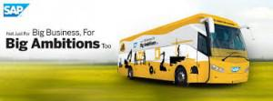 SAP Ambition Express Bus on it's Voyage to support Growth Ambitions of Bangalore SMEs