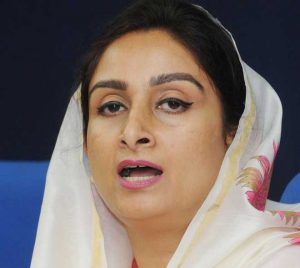 Harsimrat kaur, food processing minister,
