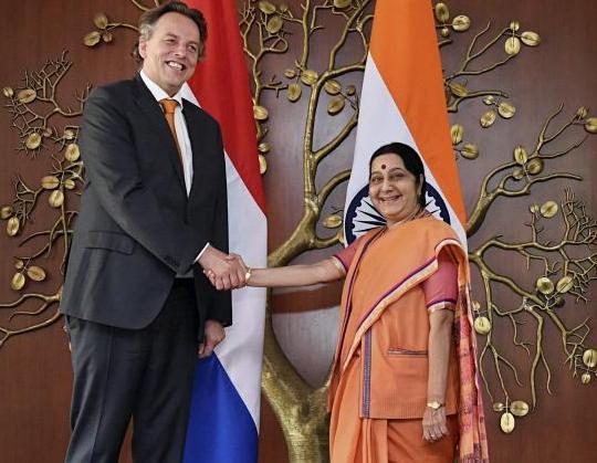 Sushma Swaraj, Bert Koenders,