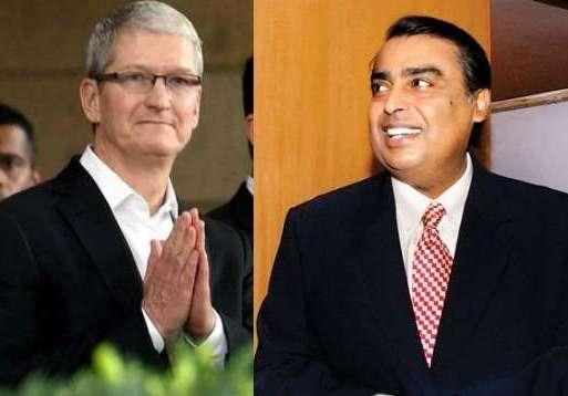 Mukesh Ambani, Tim Cook, Apple iPhone 8, Reliance Jio