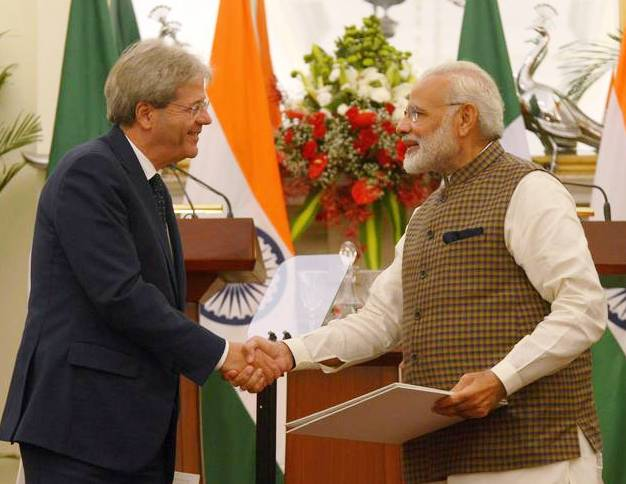 India and Italy Leadership to Come Closer for Better Trade Relations