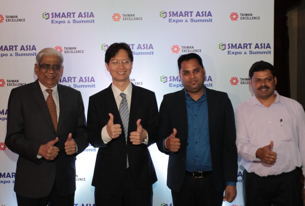 Balram Menon, WTC , Thomas Huang, Taipei, Mr. Amith Kumar, Sales Manager QNAP, Mr. Leon Anthony,
