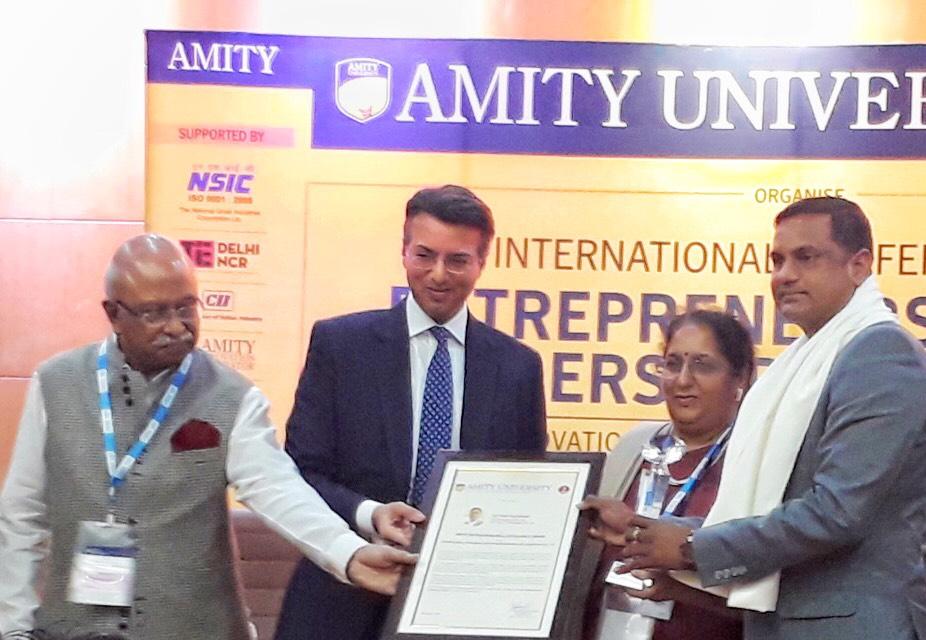 Satyam Sikarwar, SAP Infra Technologies, Entrepreneurial Excellence, ICT Sector, IoT, Amity University
