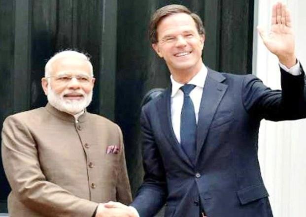 Mark Rotte, Narendra Modi,