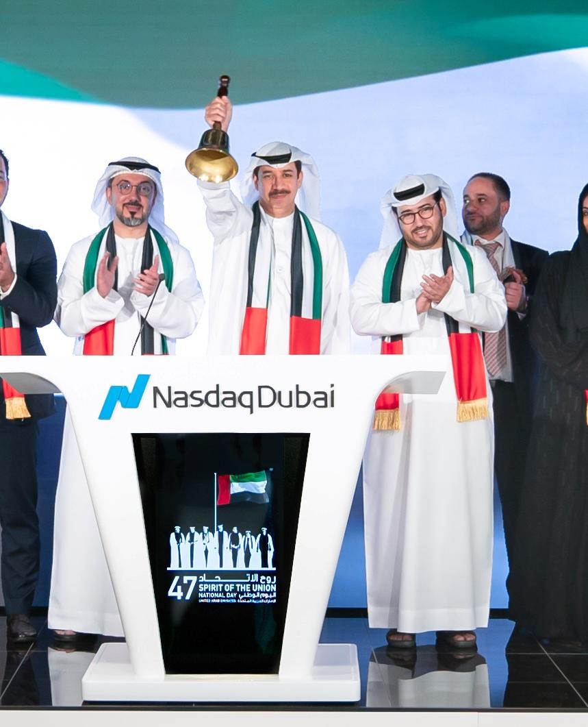 National Day 2018, NAsdaq Dubai, Bell Ringing