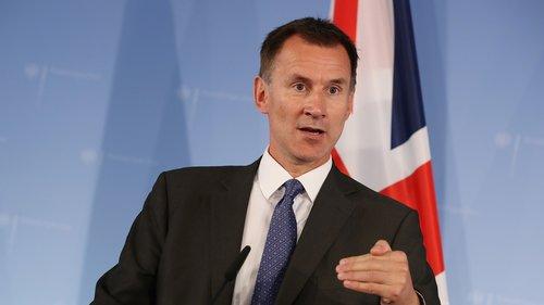 Jeremy Hunt , UK Finance Minister