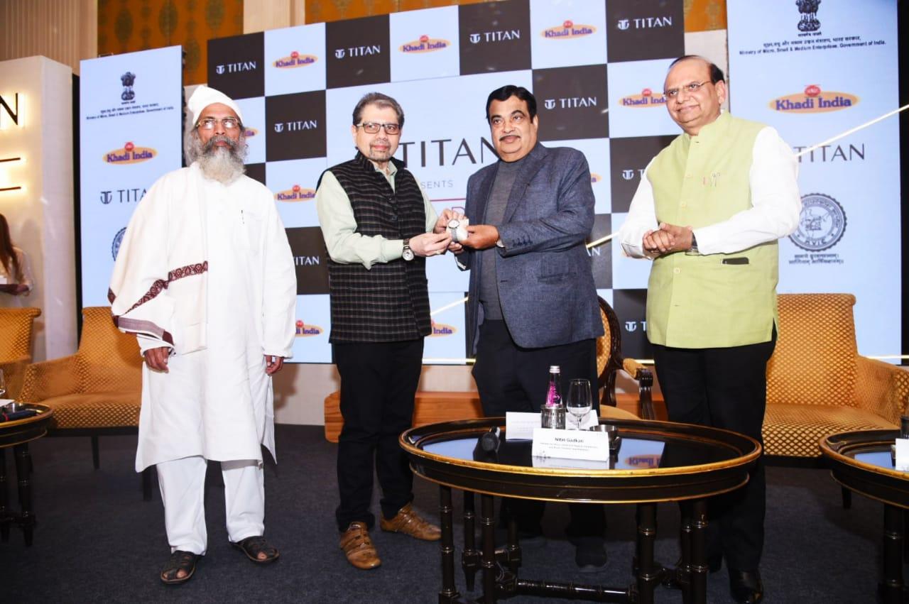 Nitin Gadkari, KVIC, VK Saxena, Titan Wristwatches