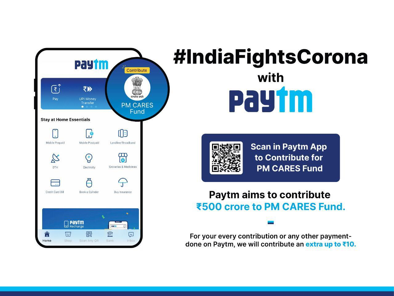 Paytm, COVID 19, Stay at Home,