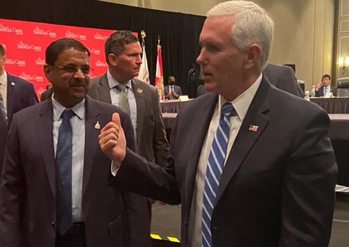 Danny Gaekwad with Vice President of US, Mike Pence