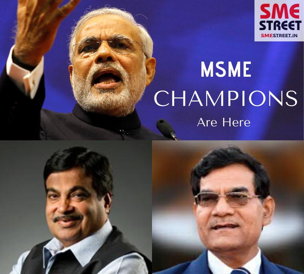 MSME CHAMPIONS, Nitin Gadkari, Narendra Modi, AK Sharma, MSME, SMEStreet