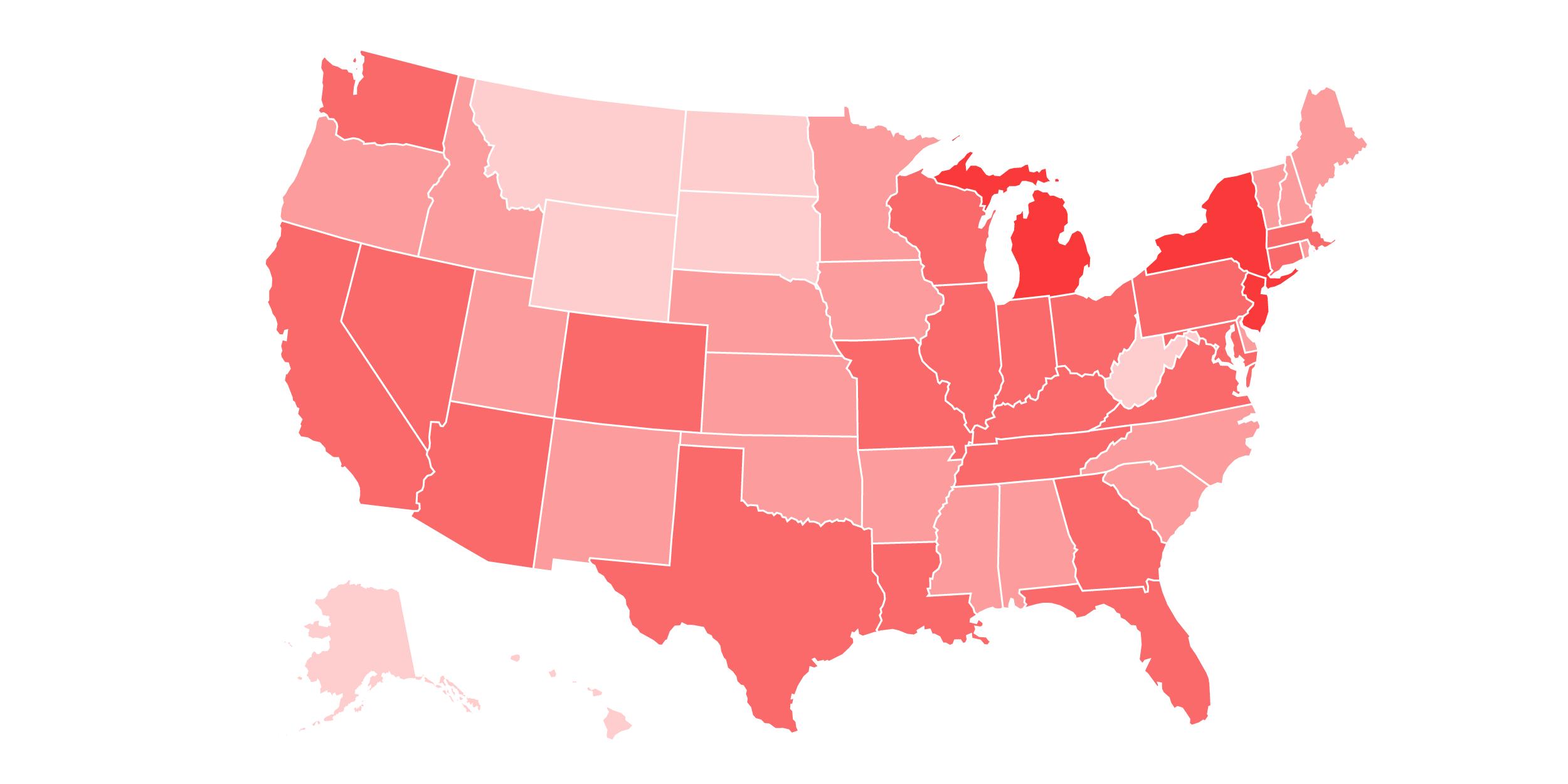 USA , COVID Cases