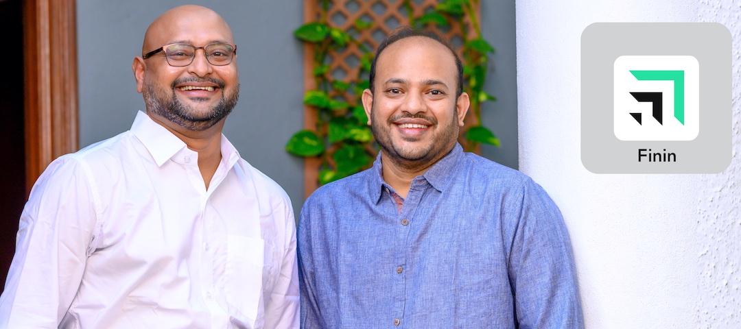 Mr Suman Gandham, Founder & CEO, Finin, Mr Sudheer Maram, Co-founder & COO, Finin