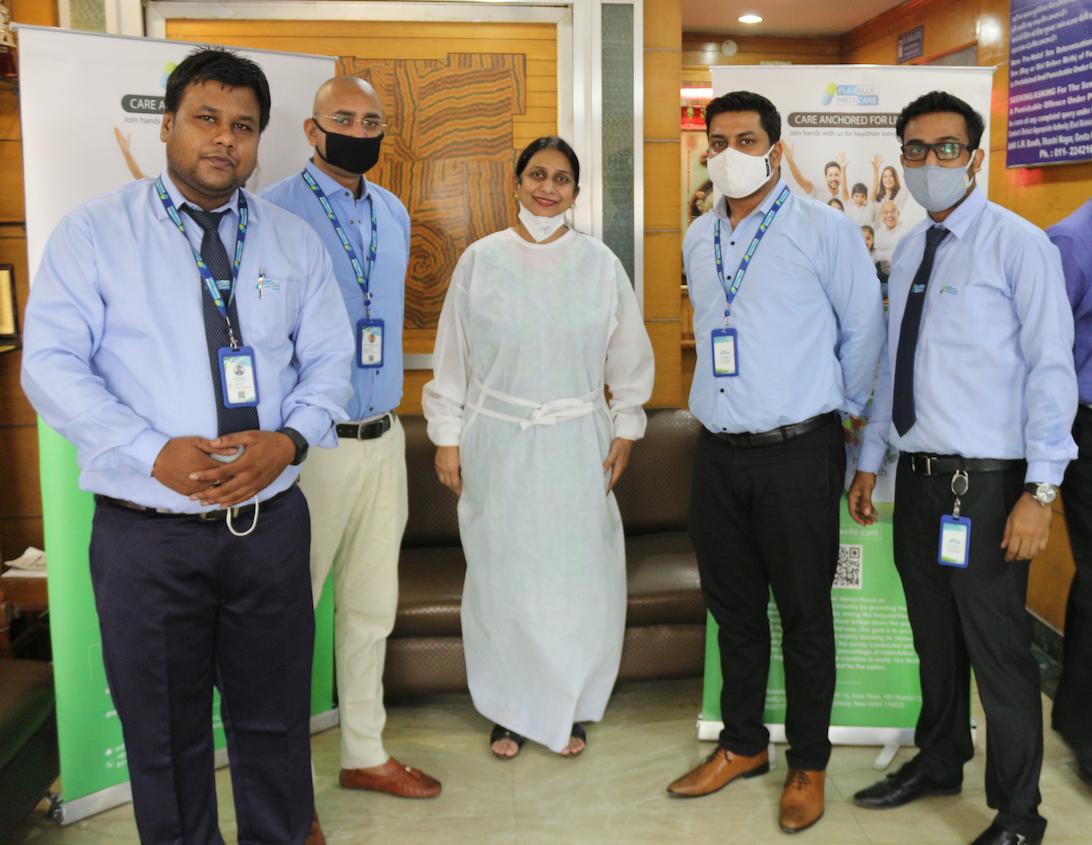from left to right-Abhishek, Pravesh kumar, Dr, Shama, Yasir Zaidi and Arup Mojumdar