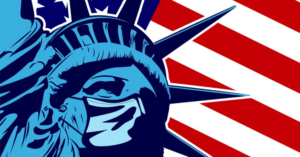Statue of Liberty, USA, COVID-19,
