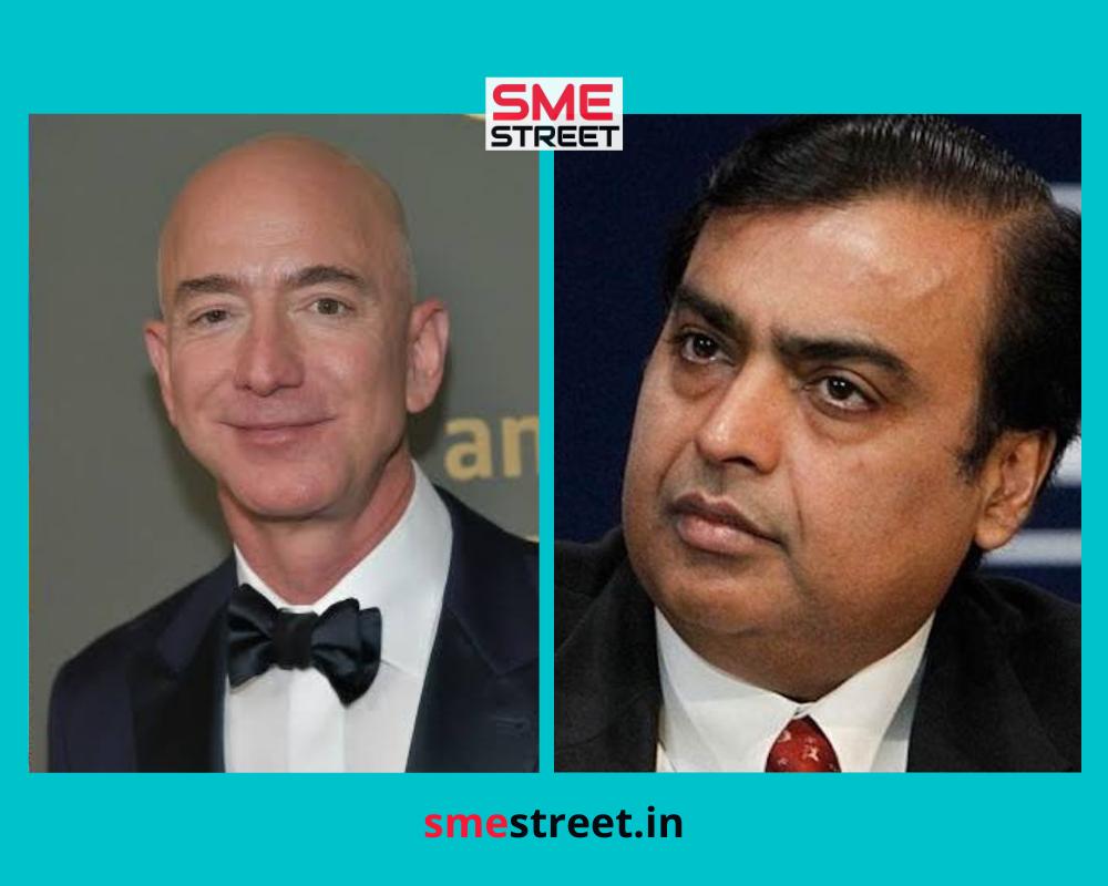 Mukesh Ambani, Jeff Bezos, SMESTreet.in
