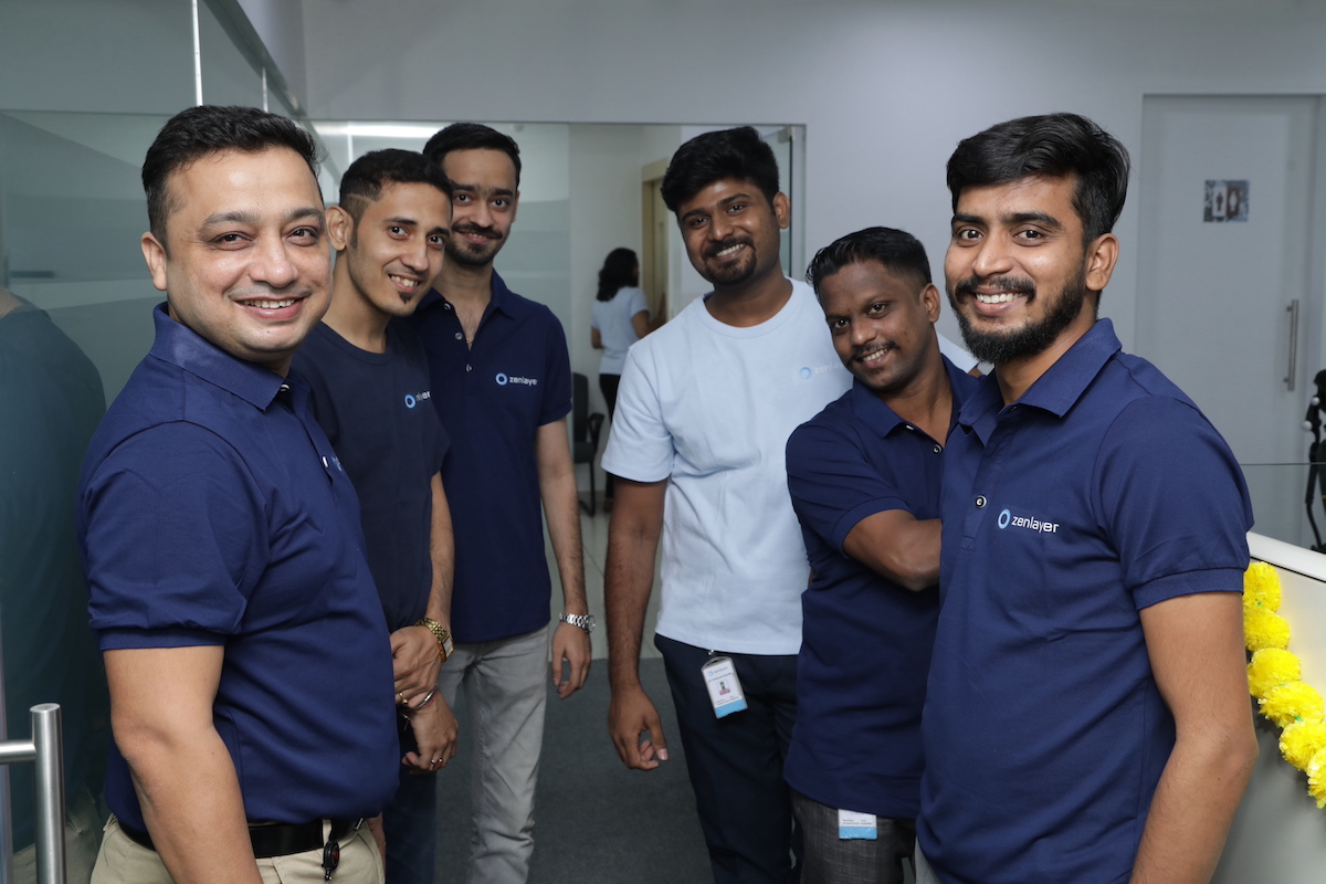 L-R- Mr Amit Singh, MD, Zenlayer India with team