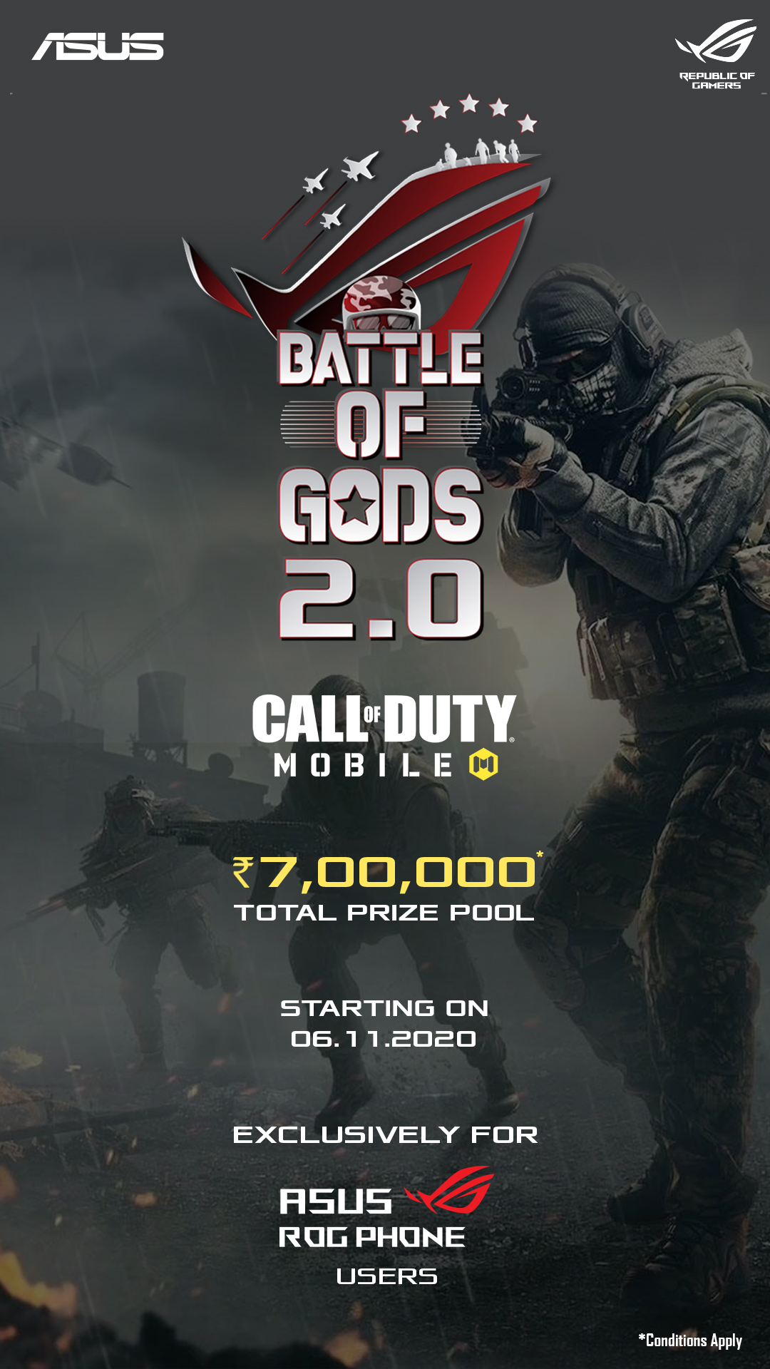 ASUS ROG, Call ON Duty, Battle of Gods