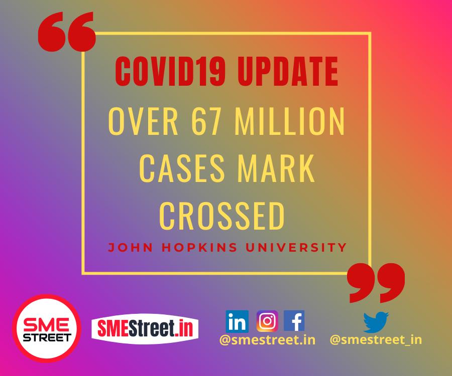 COVID19 Update , John Hopkins, SMEStreet
