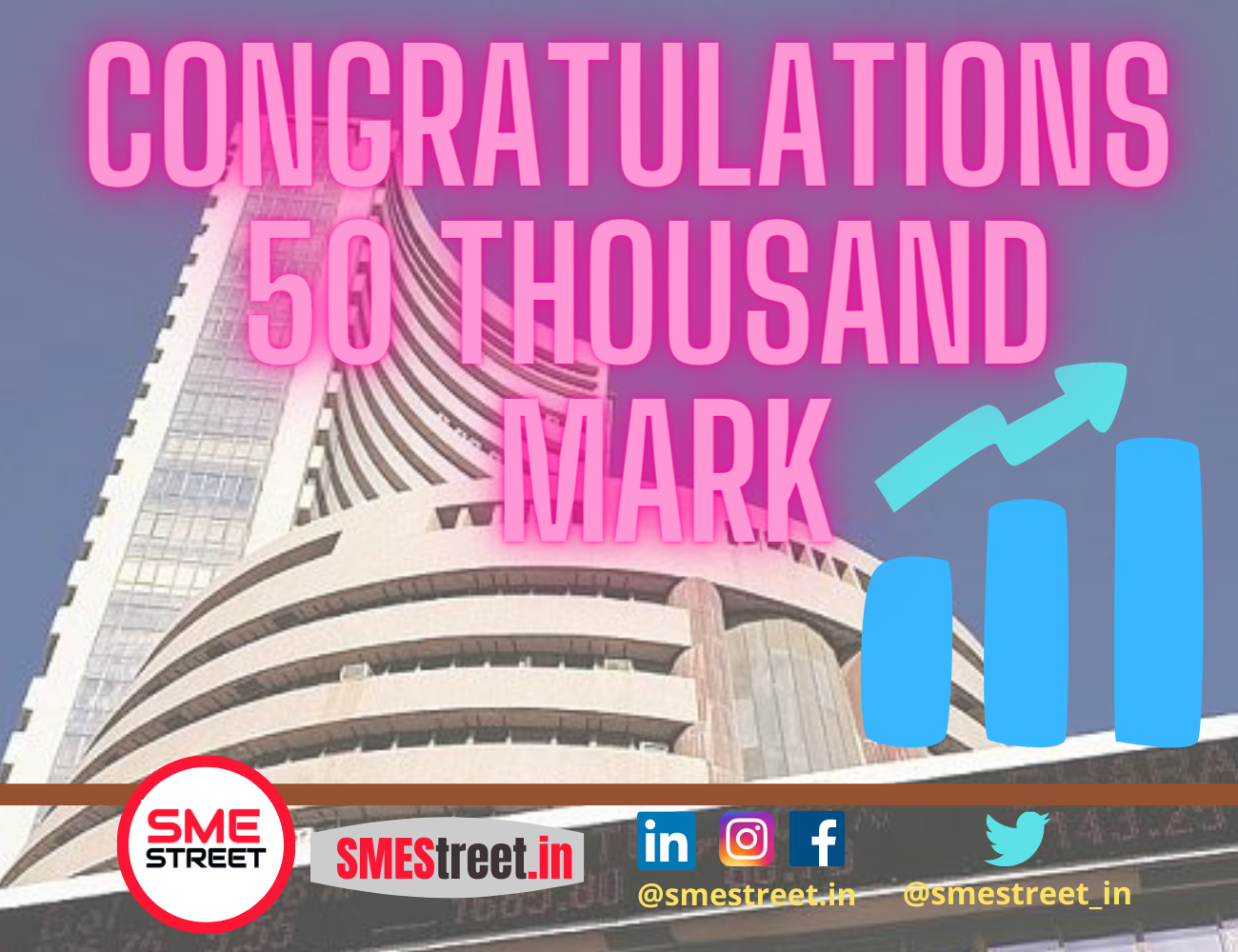 Sensex Creates History By Crossing Fifty Thousand Mark
