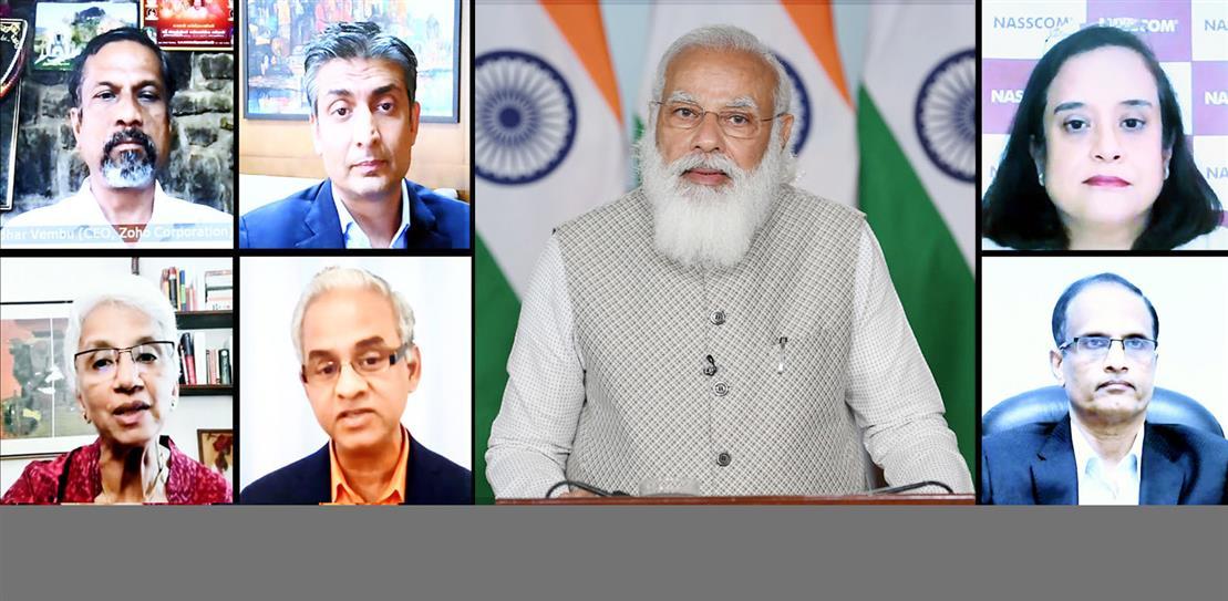 PM Modi , Sridhar Vembu, Nasscom