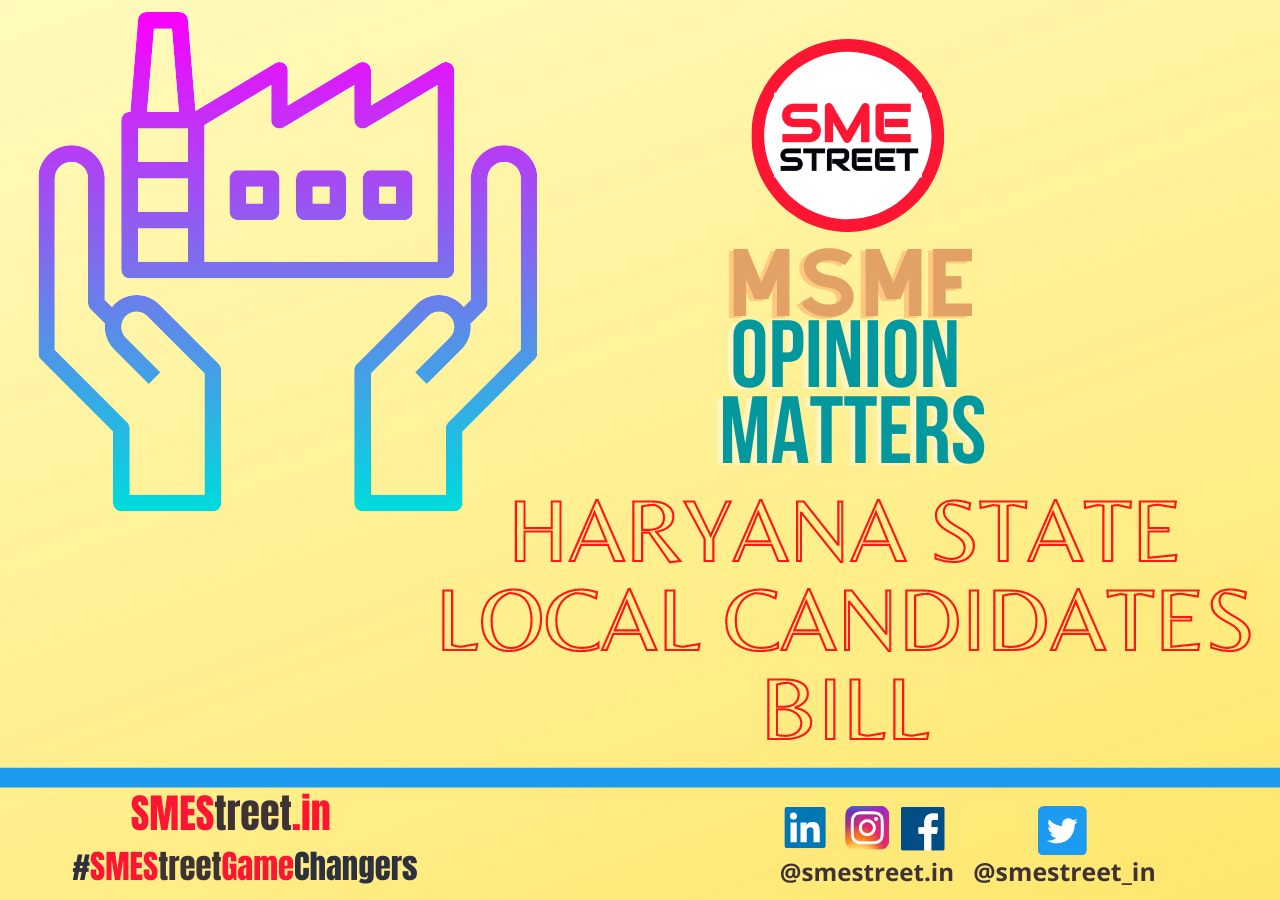 MSME, Haryana MSMEs, Local Candidates Bill