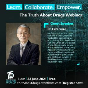 fujino, Drug-Free World Foundation
